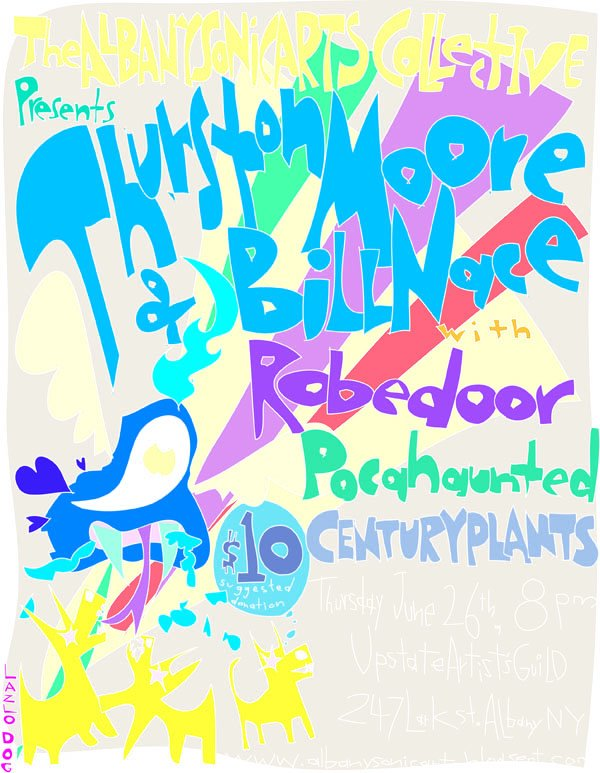 ASAC Presents Thurston Moore+Bill Nace/Robedoor/Pocahaunted/Century Plants