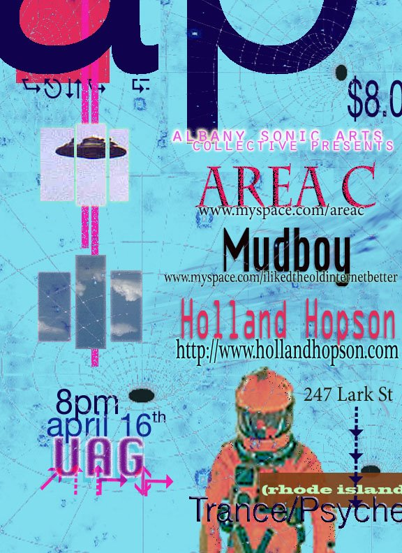 Area C + Mudboy + Holland Hopson Poster
