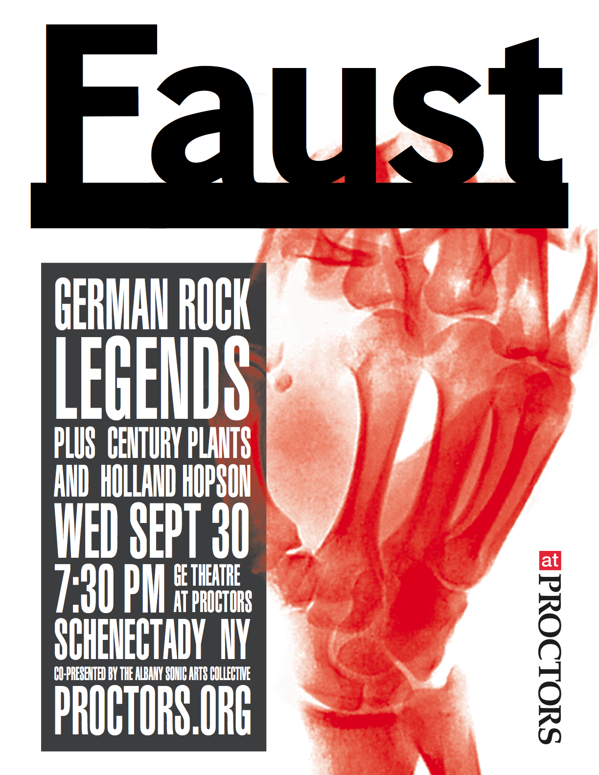 Faust, Century Plants, Holland Hopson at Proctor's Schenectady NY 9/20