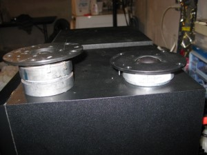 Old. vs. New. The factory tweeter is on the left. The SEAS replacement is on the right.