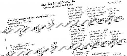 Carrier Hotel Victoria Quartet score excerpt