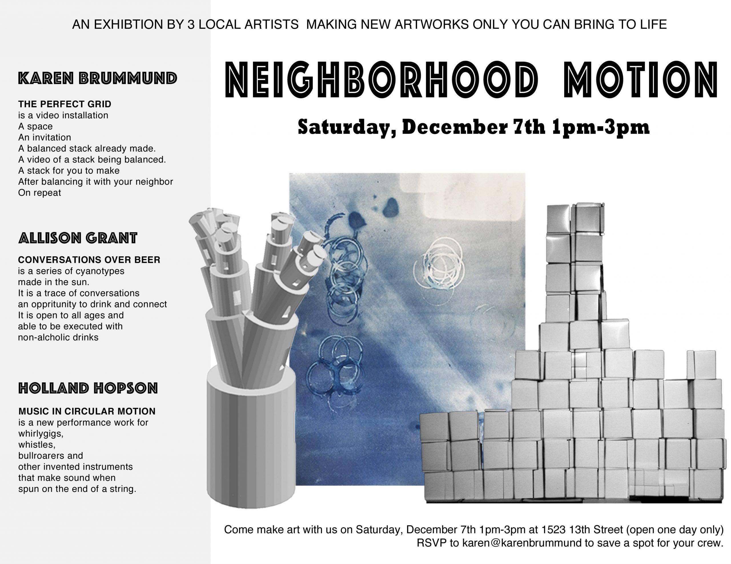Neighborhood Motion event flyer